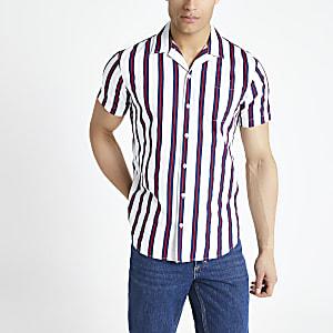 Jack & Jones – Weißes, gestreiftes Hemd