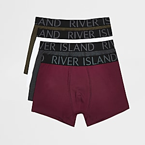 Burgundy trunks 4 pack