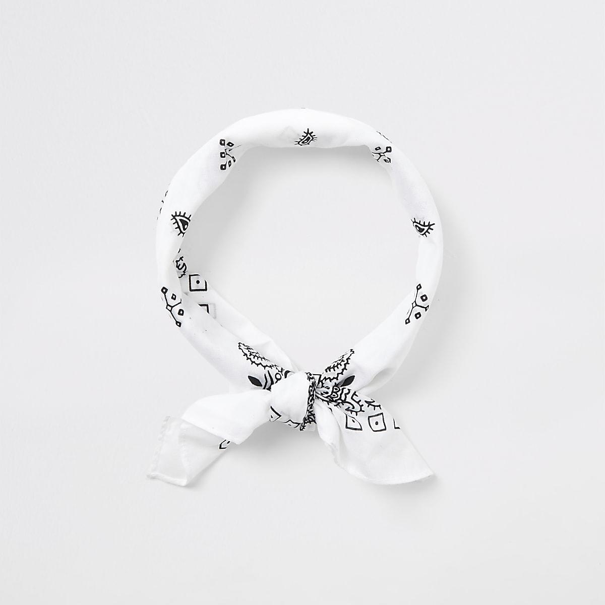 Witte klassieke bandana