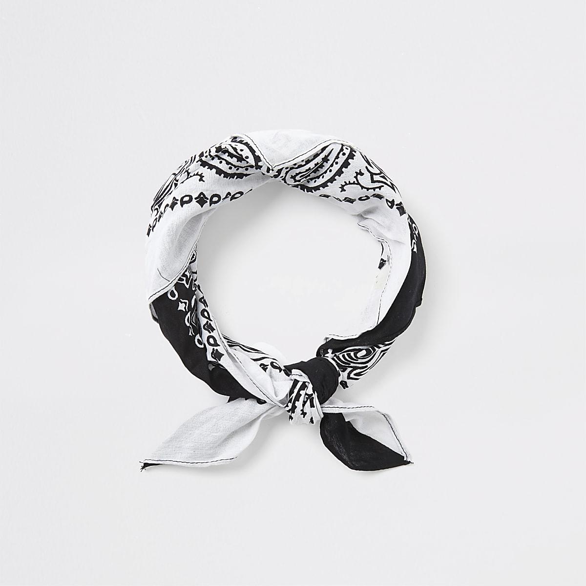 White mixed bandana