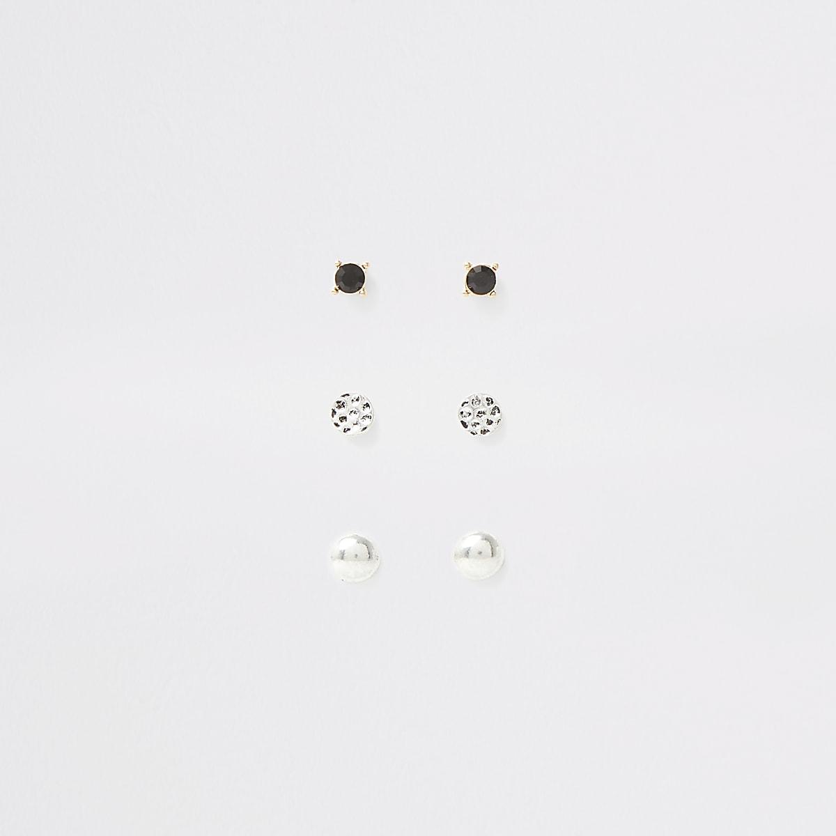 Multipack verschillende zilverkleurige oorknopjes