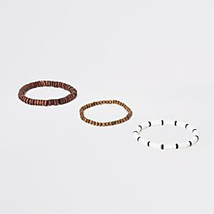 Brown wooden bracelet multipack