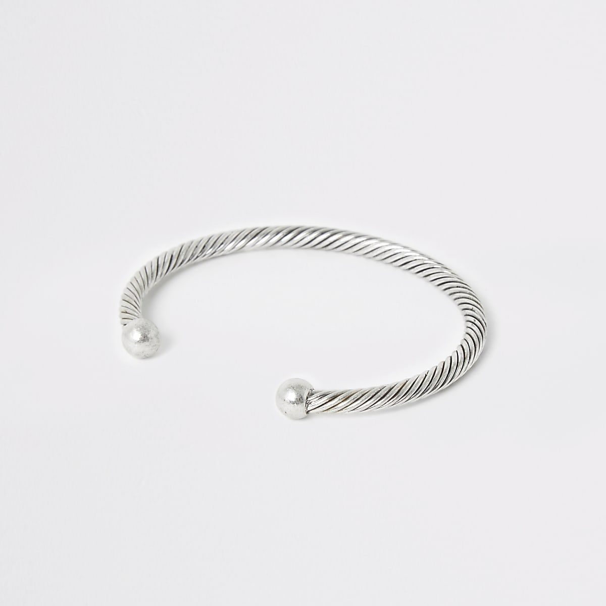 Silver tone cuff bracelet