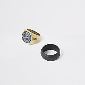 Goldene Ringe, 2er-Pack