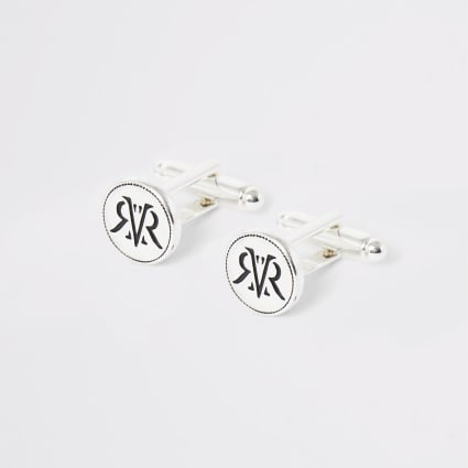 Silver tone RI cufflinks