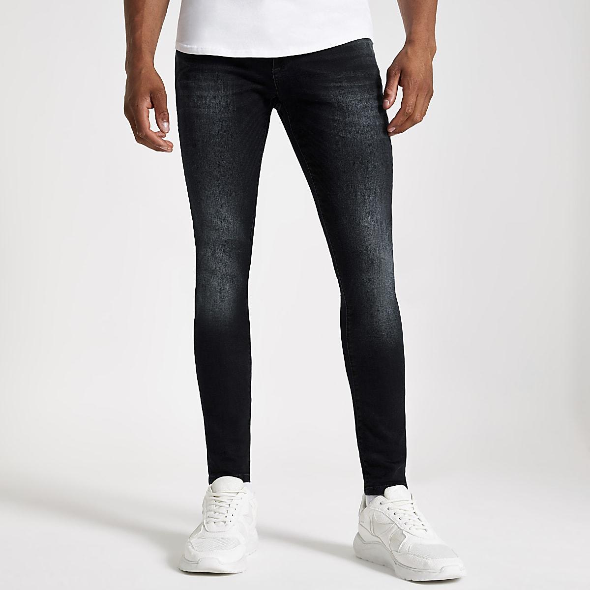 Ollie - Donkerblauwe spray-on jeans