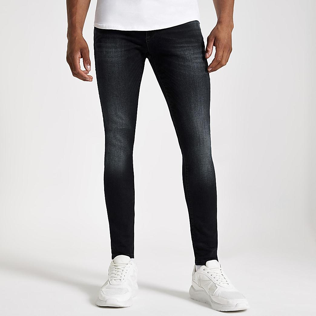 Dark blue Ollie spray on jeans