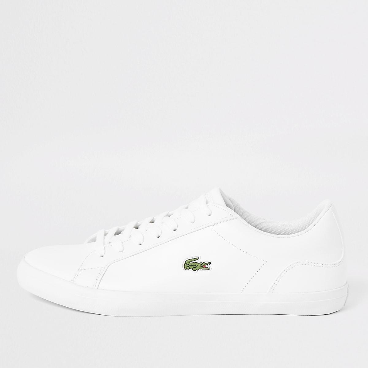 Lacoste – Baskets Lerond en cuir blanches