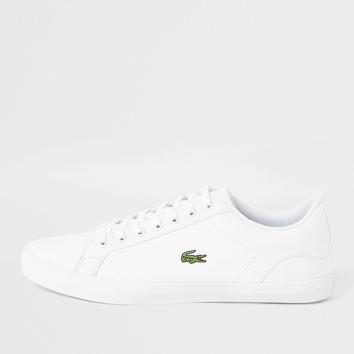 Lacoste white Lerond canvas trainers