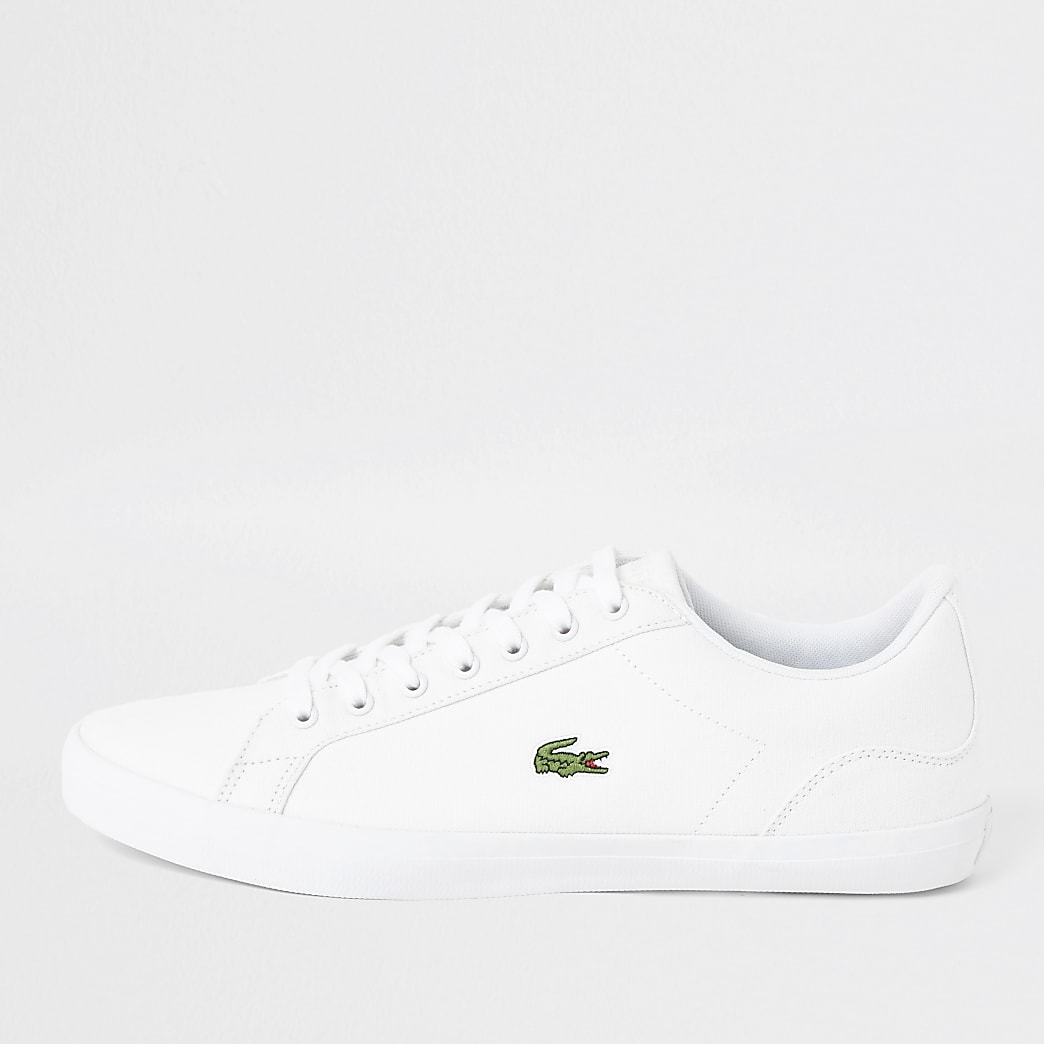 Lacoste – Baskets Lerond en toile blanches