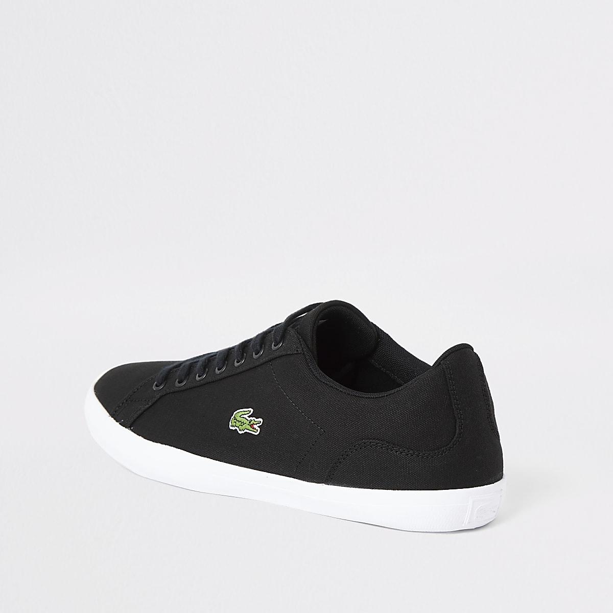 f8c0a26c896d Lacoste black Lerond canvas trainers - Trainers - Shoes   Boots - men