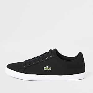 Lacoste – Lerond – Schwarze Leinen-Sneaker