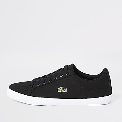 Lacoste black Lerond canvas trainers