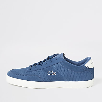 Lacoste blue Courtmaster trainers