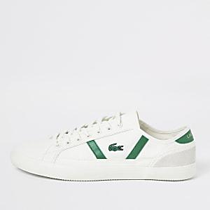 Lacoste – Weiße Sneaker aus Leinen