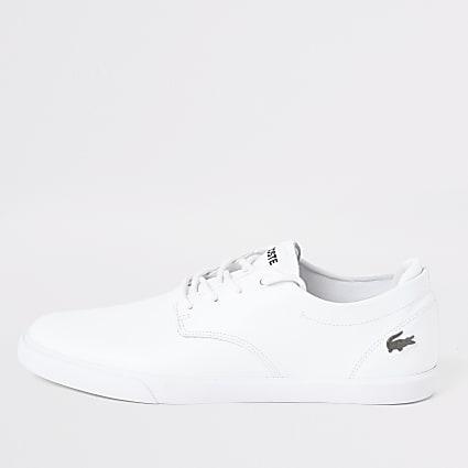 Lacoste white Esparre trainers