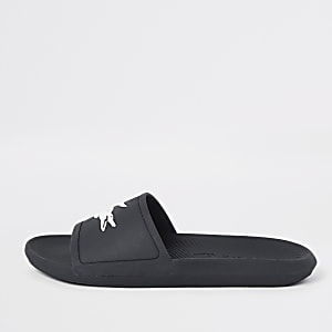 Lacoste navy sliders
