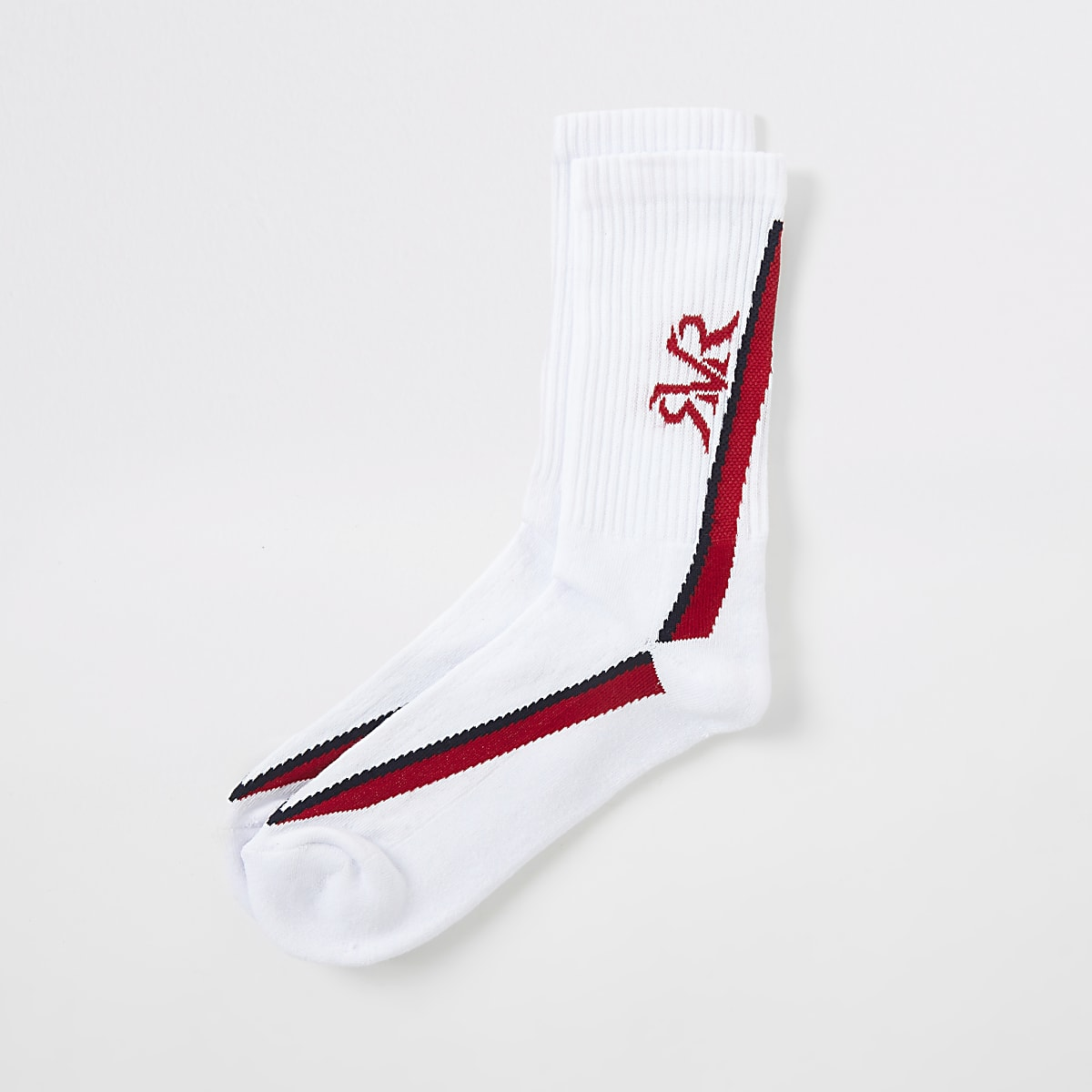 White stripe RI socks