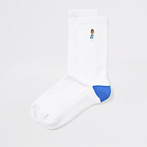 Hula - Witte sokken met print voor meisjes