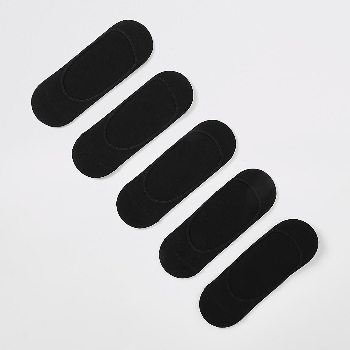 5 paar zwarte open sportsokken