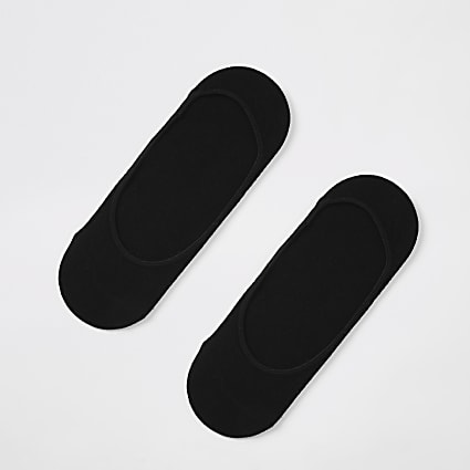Black open trainer liner socks