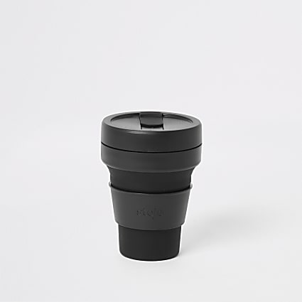 Stojo black silicone 12oz collapsible cup