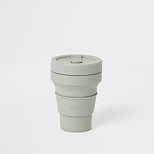 Stojo – Gobelet vert pliant en silicone 12oz