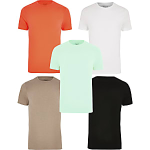 Lot de 5 t-shirts ajustés