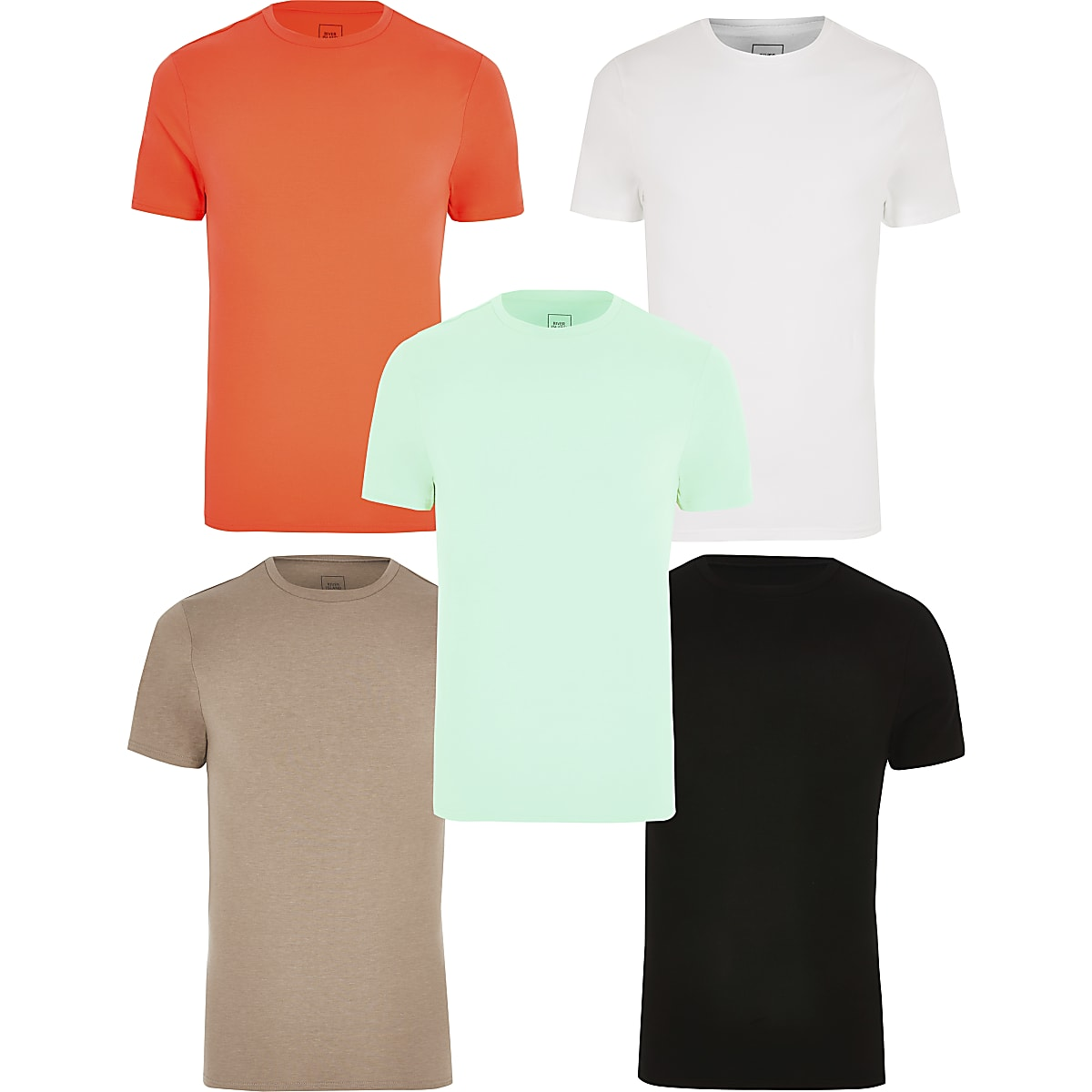 Multi muscle fit T-shirt 5 pack