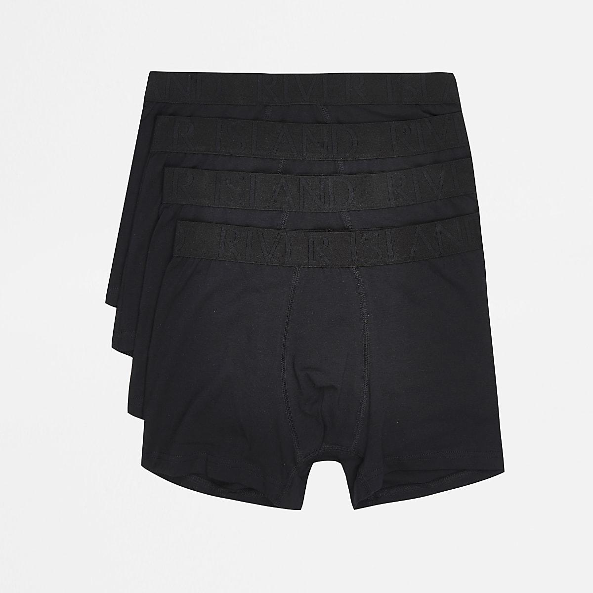Black trunks 4 pack