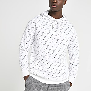 Sweat à capuche slim « Prolific » blanc