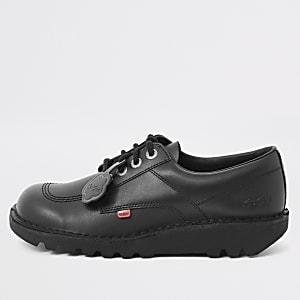 Kickers black Kick Lo leather shoes