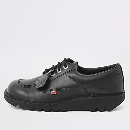 Kickers black Kick Lo leather shoes