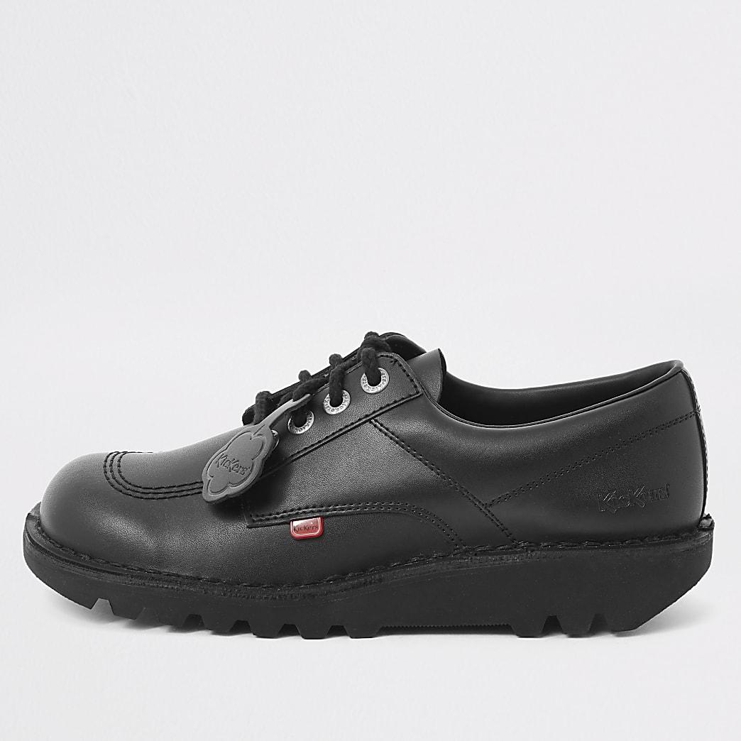 Kickers - Zwarte Kick Lo leren schoenen