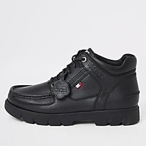 Kickers - Lennon - Zwarte leren hoge schoenen