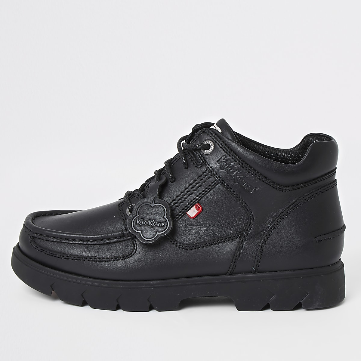 Kickers lennon black leather high top boots