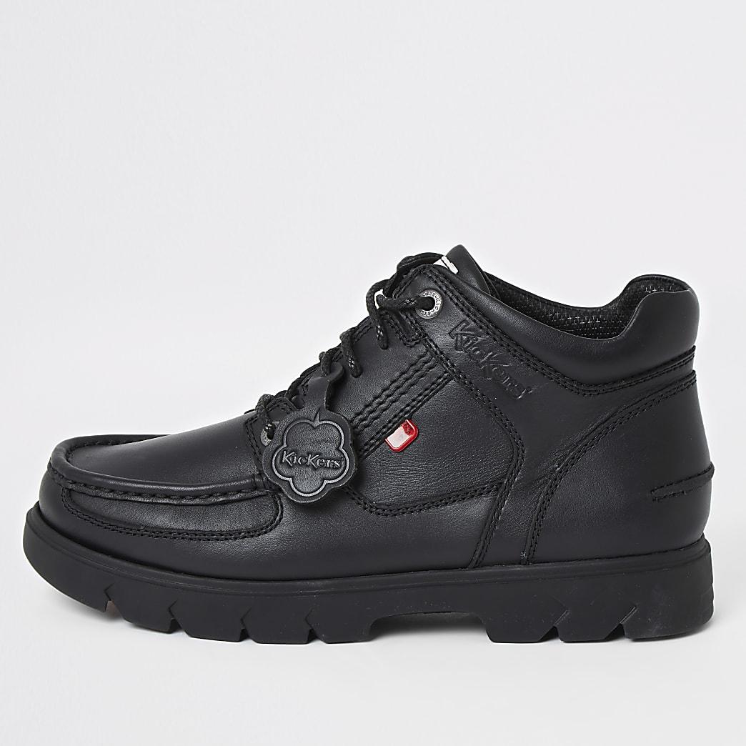 Kickers – lennon – Bottes en cuir noires