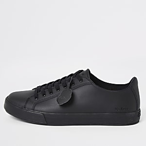 Kickers – Schwarze Sneakers aus Leder