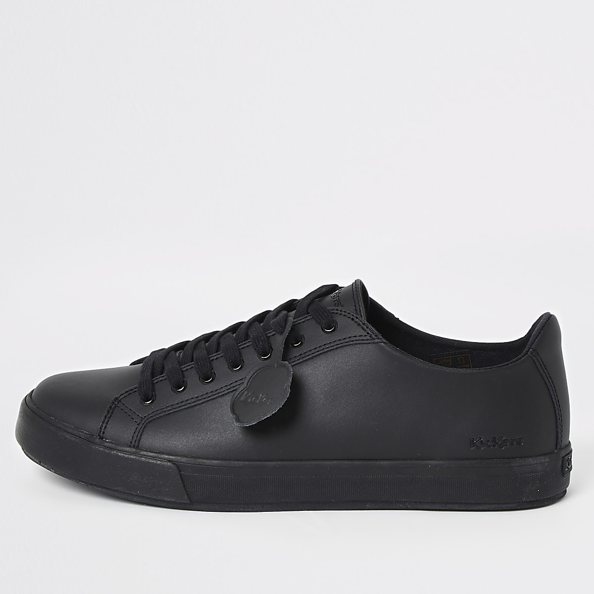 Kickers black leather trainers