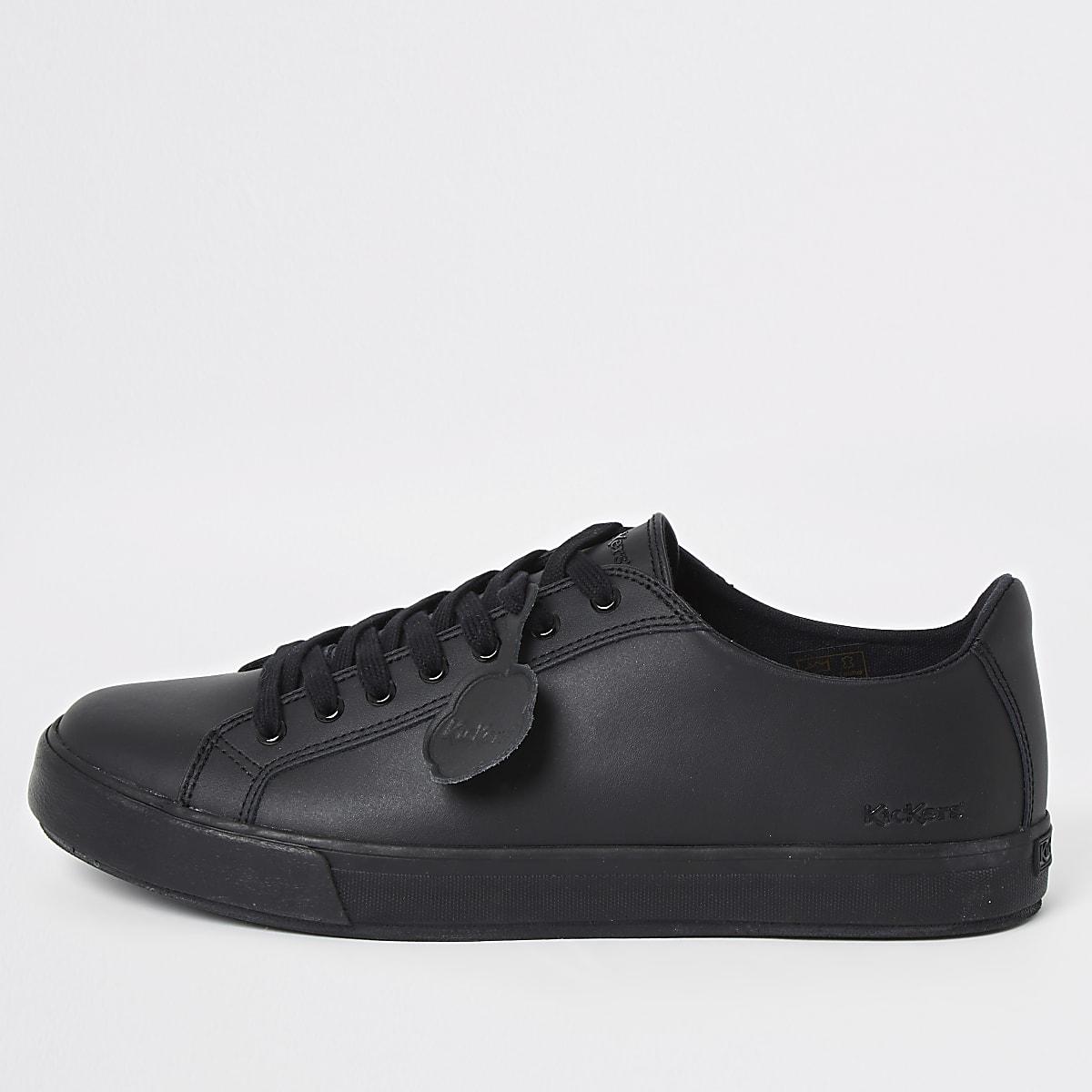 Kickers - Zwarte leren sneakers