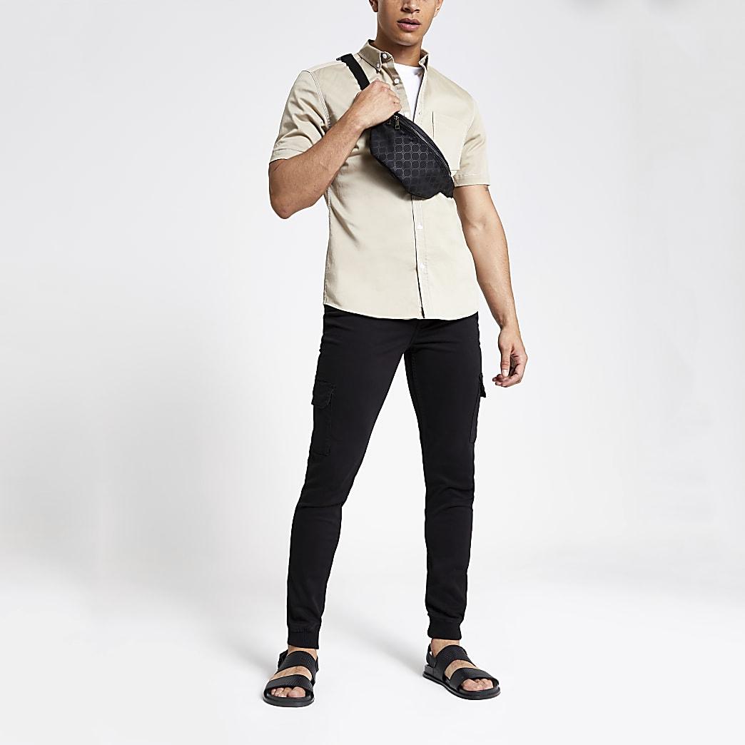 Black Danny super skinny cargo trousers