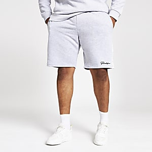 Big and Tall grey 'Prolific' slim fit shorts