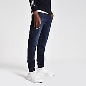 Ryan - Donkerblauwe jogging-jeans