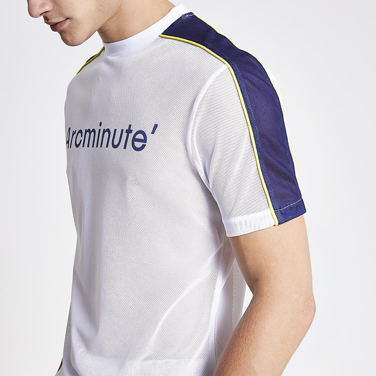 Arcminute white mesh T-shirt