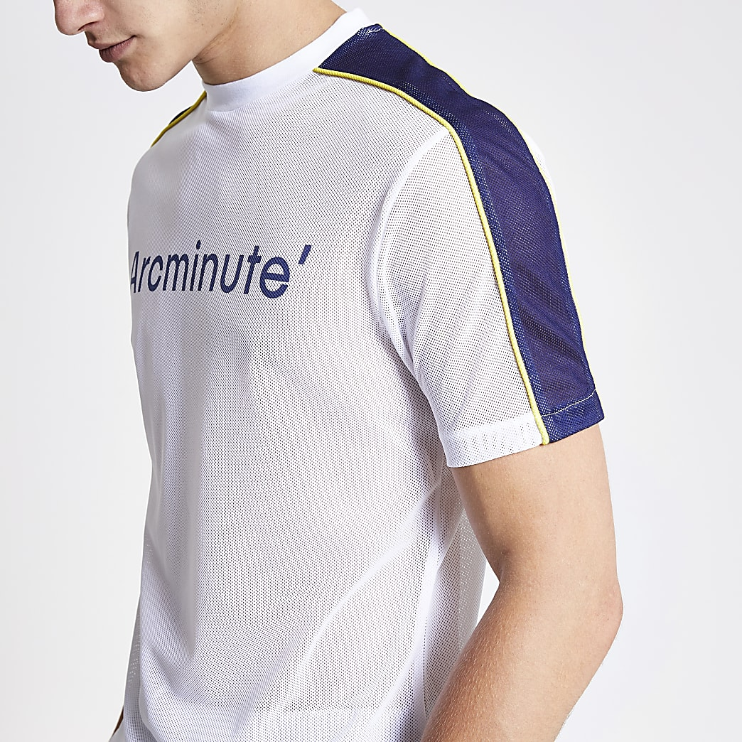 Arcminute - Wit mesh T-shirt