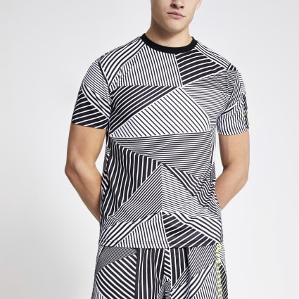 Arcminute black geo print T-shirt