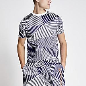 Arcminute blue geo print T-shirt