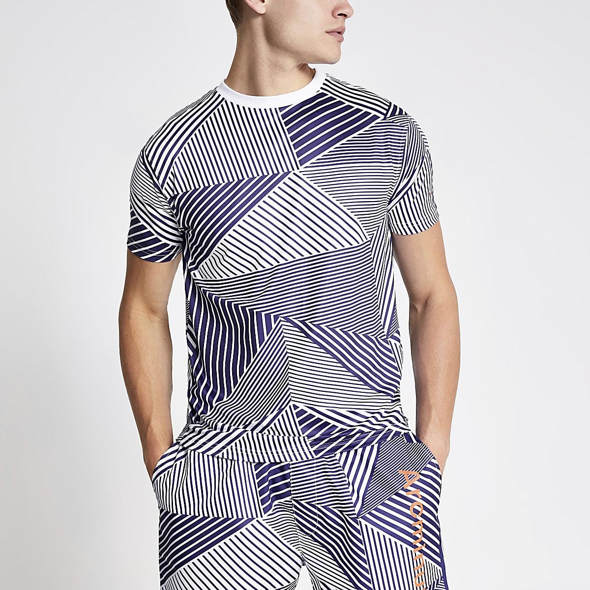 Arcminute – Blaues T-Shirt mit Print
