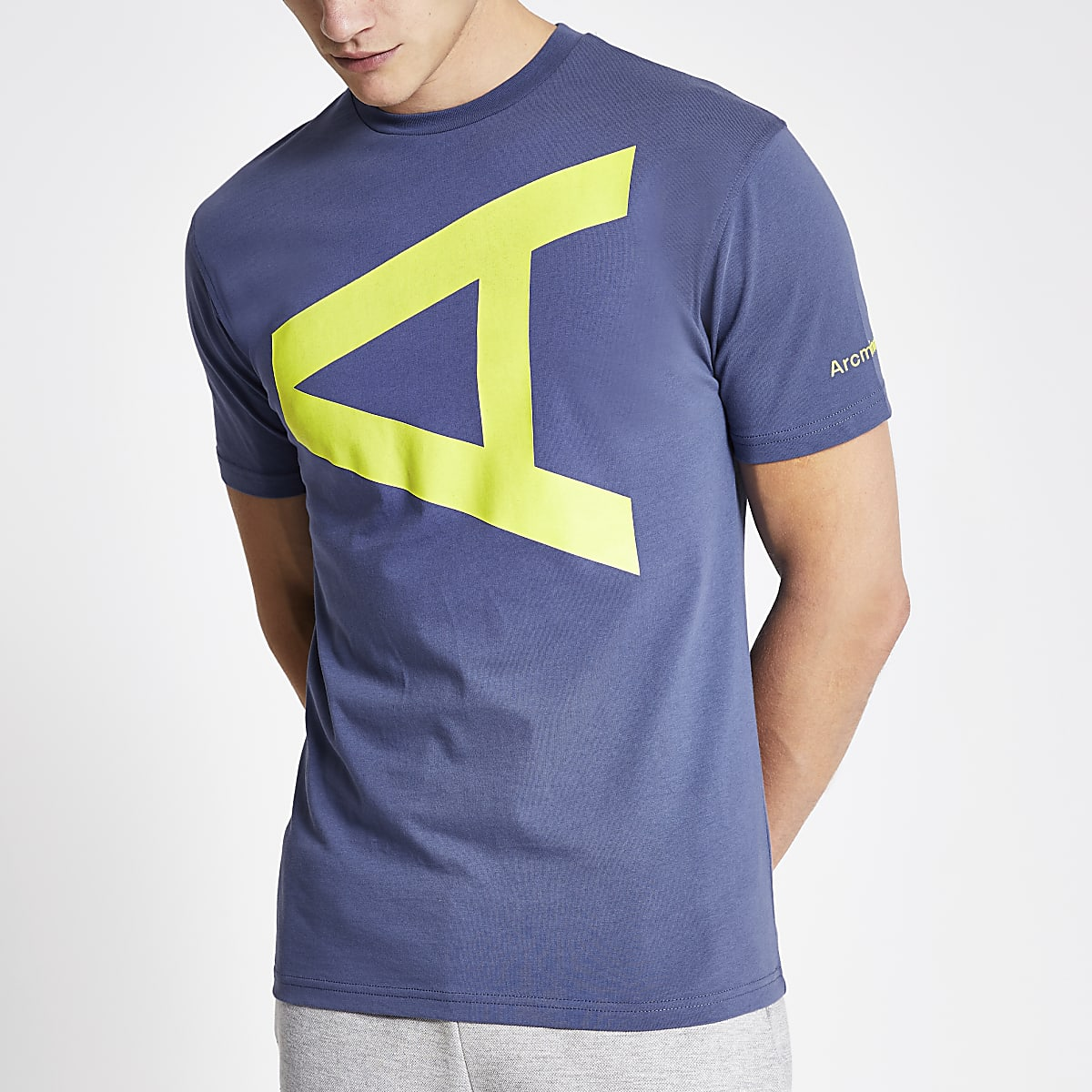 Arcminute - Blauw T-shirt met letterprint