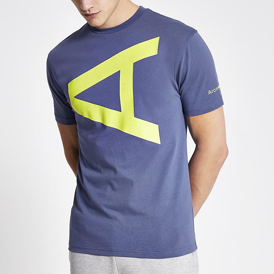Arcminute blue letter print T-shirt